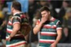 the speed of leicester tigers' implosion on the pitch is a huge...