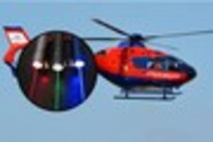 devon air ambulance flight targeted by laser while flying to...