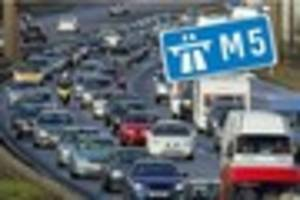 m5 crash: slip road partially blocked at wellington in southbound...