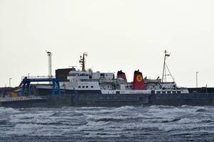 campaign to land arran ferry at troon boosted as wild weather shelves ardrossan crossings
