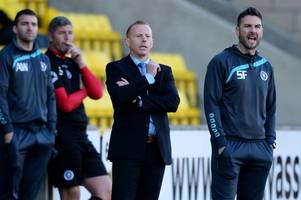 new stranraer manager stevie farrell eyes dream double as he begins life with blues