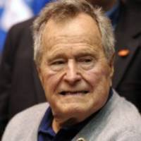 former u.s. president bush out of intensive care