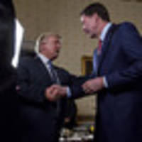 comey gets a pat on the back from trump