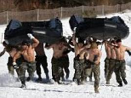 us marines and korean troops do joint exercise in -20c