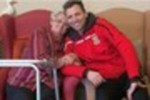 tamworth fc's players  pay care homes a visit as part of...