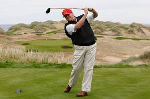 trump resigns as director of scottish golf courses as he takes up us presidency