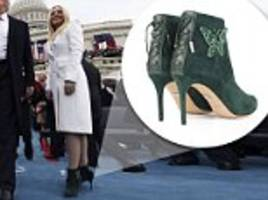 tiffany trump's $800 inauguration shoes flown from london