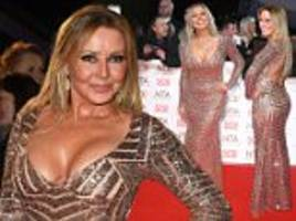 nta awards 2017: carol vorderman displays cleavage