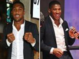 anthony joshua at opening of state-of-the-art boxing gym