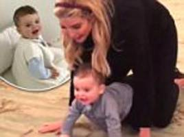 ivanka trump's baby crawls in white house in cute video