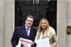 carol vorderman hands in downing street petition to see bristol's...