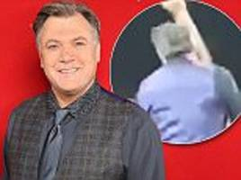 ed balls gets kicked in the face during strictly tour