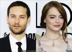 tobey maguire trying to flirt with emma stone