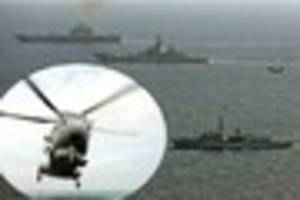 cornwall helicopter crew keeps watch on russian fleet in english...