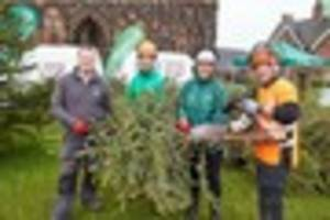 lichfield 'christmas treecycle' raises £8,500 for st giles...