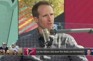 drew brees dissects the atlanta falcons' defense with colin cowherd on 'the herd'
