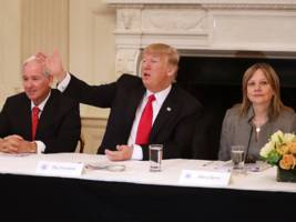 here's who sat where in trump's first big business council meeting — and what the layout communicates