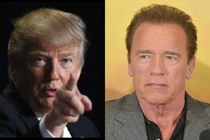 schwarzenegger jokes about going commando on trump: 'just smash his face into the table'