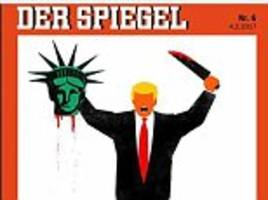 outrage as der spiegel publishes shock trump cover