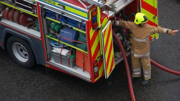 two rescued from top floor flat fire in galashiels
