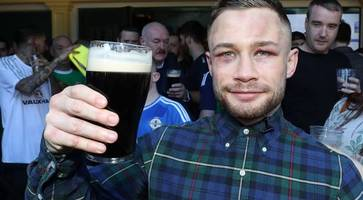 carl frampton reveals fight to get a pint at his las vegas party after defeat to leo santa cruz