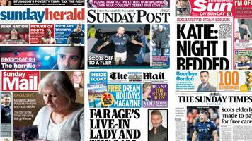 scotland's papers: drug driving and elderly 'denied' care