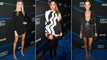 the ladies of si swimsuit own the red carpet at the directv now super bowl party
