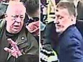 police hunting two football fans over anti-semitic abuse