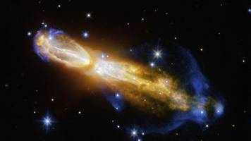 as a star slowly dies, the rotten egg nebula is born