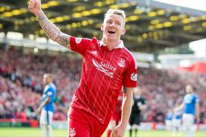 jonny hayes signs new aberdeen contract just a week after looking like he was on way out of pittodrie