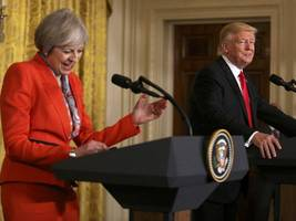 Is Theresa May Making Fun Of Donald Trump?