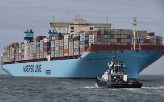 maersk shares sink as the company reports a significant loss