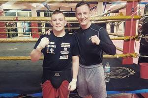 irvine boxer ryan collins puts rematch row behind him as he spars with former olympic captain thomas stalker at elite marbella boxing camp