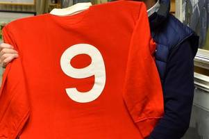 one of gareth edwards' shirts from wales' 1977 triple crown win is for sale