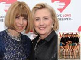 hillary clinton was set to be vogue cover girl this month