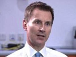 jeremy hunt: some nhs care 'completely unacceptable'