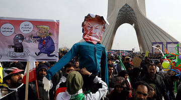 death to america: hundreds of thousands of iranians rally to protest trump, celebrate islamic revolution