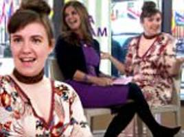 lena dunham flusters host by saying penis during interview
