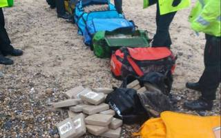 360kg of cocaine worth £50m has washed up on two beaches in norfolk