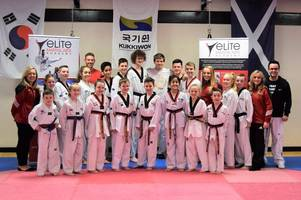 taekwondo: olympian passes on top tips to east kilbride's elite students