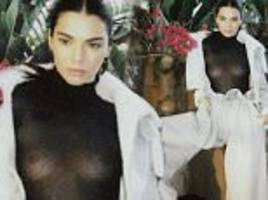 kendall jenner shows off her chest