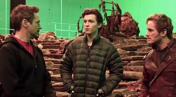 star-lord meets iron man and spider-man in 'avengers: infinity war' first set video