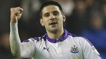 mitrovic strike returns newcastle to top of championship