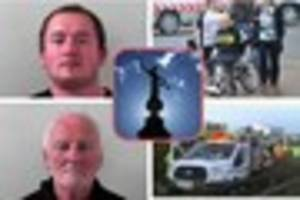 Jailed this week in Somerset - driver who nearly killed his young...