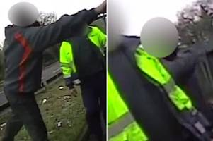 Road rage men caught on dashcam 'threatening to BEHEAD lorry driver' because 'they thought he cut them up'