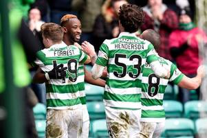moussa dembele finishes like a brazilian and his double treble puts him up there with henrik larsson
