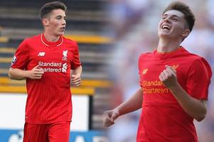 wales youngsters ben woodburn and harry wilson score two goals each in stunning display for liverpool under-23s