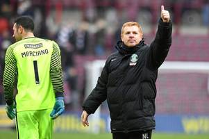 neil lennon fancies hibs to finish the job against hearts at easter road