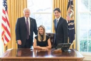 Ivanka Trump comes under fire for Twitter photo featuring Donald Trump and Justin Trudeau