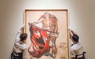 auctioned masterpiece could set a record for artist